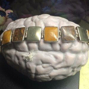 """Beautiful stone bracelet in Sterling silver 8 """""""